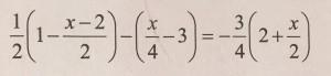 matematika jednacina