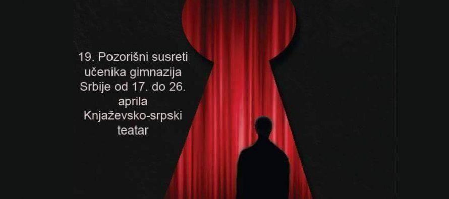 Pozorišni susreti gimnazijalaca Srbije