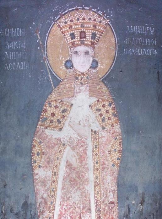 Freska Simonide Nemanjić iz manastira Gračanica