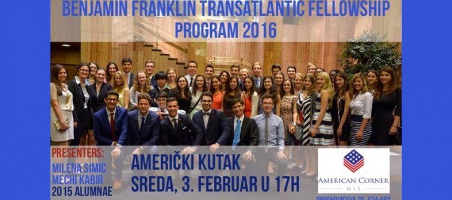 Niš: Prezentacija programa posete Americi za srednjoškolce