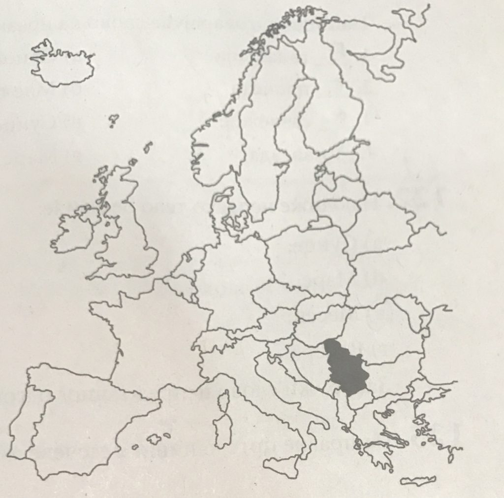 srbija mapa geografija
