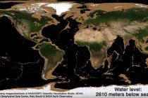 Animacija pokazuje površinu Zemlje u slučaju nestanka vode